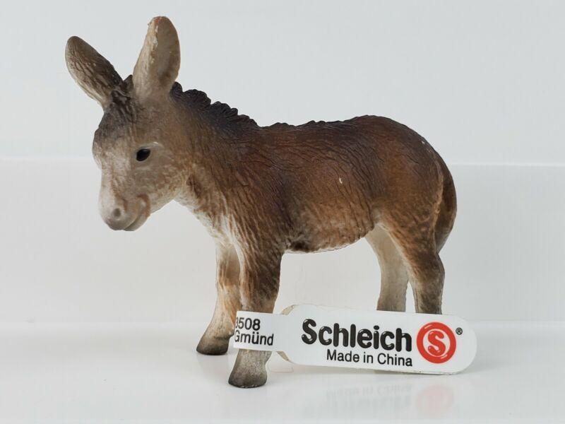 "Schleich 13268 Donkey Foal Animal 2.5"" Figurine Farm Life Retired 2003 - NEW"