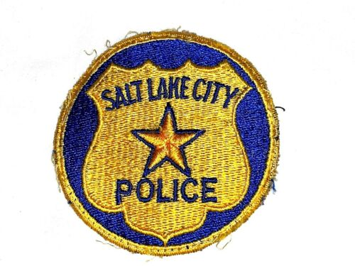 Salt Lake City Police RARE VINTAGE PATCH UTAH Circular Shoulder Patch