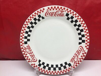 "10 1/2""  1996 Gibson Checkered Coca-Cola Brand Dinner Plate"