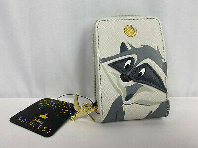 Loungefly Disney Pocahontas Meeko Raccoon Card Holder Accordion Wallet NEW