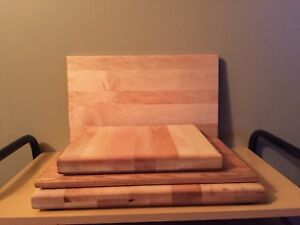 Maple and oak cutting boards