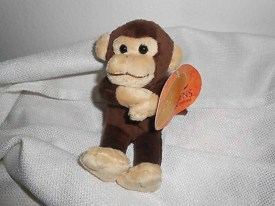 "4"" PLUSH BUSCH GARDENS BROWN CREAM MONKEY PLUSH"