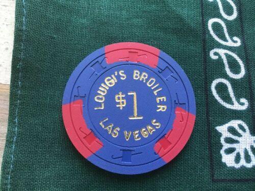 Louigi's Broiler Casino, Las Vegas NV $1 casino chip. RARE.