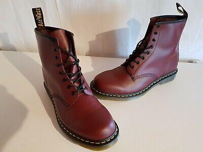 Dr. Martens 1460 Herren Leder Boots Stiefel Farbe weinrot Größe 48 NEU