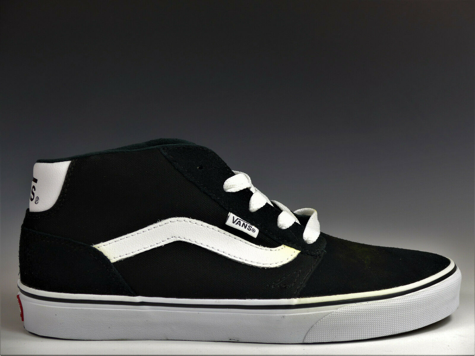 Vans Champan Mid Suede Canvas Sneaker Schuhe Skaterschuhe (Black/white) B-Ware