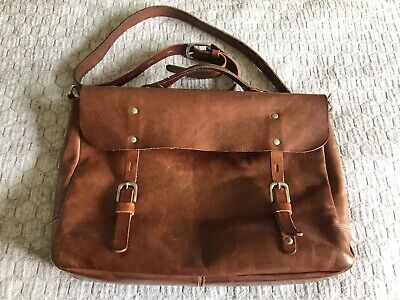 Ally Capellino Leather Messenger Bag Men's or Women's England School Satchel