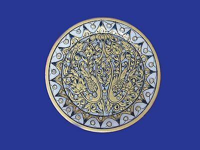 Beautiful Marble White Plate Floral Design Stone ...