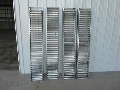 New Unex Span-track Gravity Conveyor Aluminum 73 L. X 12-12 W. Lot Of 8
