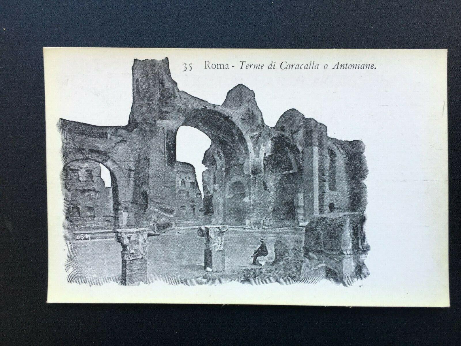 Carte Postale Ancienne 1907 ITALIE - ROME - ROMA -Terme di Caracalla o Antoniane