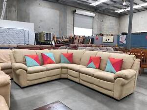 TODAY DELIVERY COMFORTABLE MODERN L shape lounge couch sofa SALE