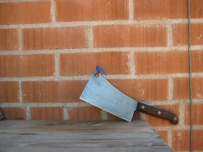 """Vintage 6"""" Blade x 1 lb. Wt. ** KEEN KUTTER ** Simmons Carbon Cleaver Knife USA"""