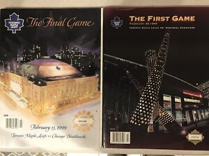 Toronto Maple Leaf Memorabilia - Final game MLG program and ACC