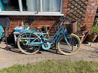 Pazzaz Petal girls bike - pastel blue with basket