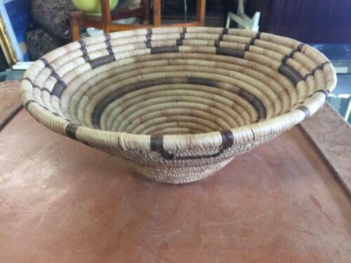"""Large Papago Woven Basket 12"""""""