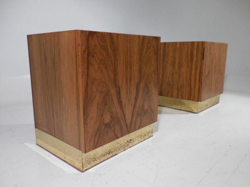 2 Vintage Milo Baughman Thayer Coggin Rosewood Night Stands Mid Century Modern