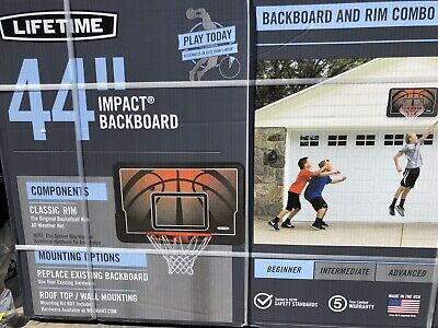 "44"" Basketball Impact Backboard Combo System Outdoor Wall Mount FREE SHIPPING"