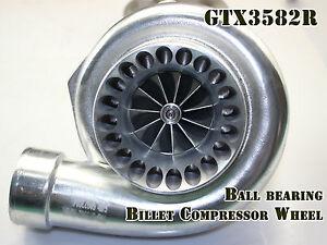 Upgraded Universal Dual Ceramic Ball Bearing Turbo GT35 GT3582 A/R .63 Vband