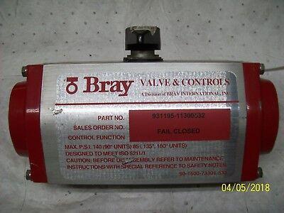 Bray Valve 931195-113000532 Pneumatic Actuator Spring Return 140 Psi See Below
