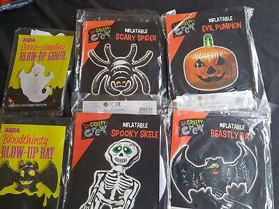 Halloween Decoration - Blow Up Ghoul, Bat, Spider, Pumpkin, Skeleton ()