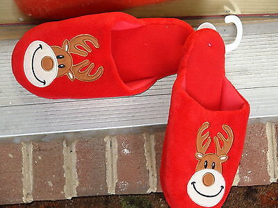 Family PJs Macy's Holiday fun for your family Slippers size L (10-11) Red Solid