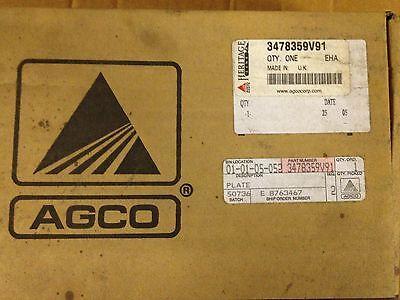 Agco Parts 3478359v91 Plate Massey Ferguson
