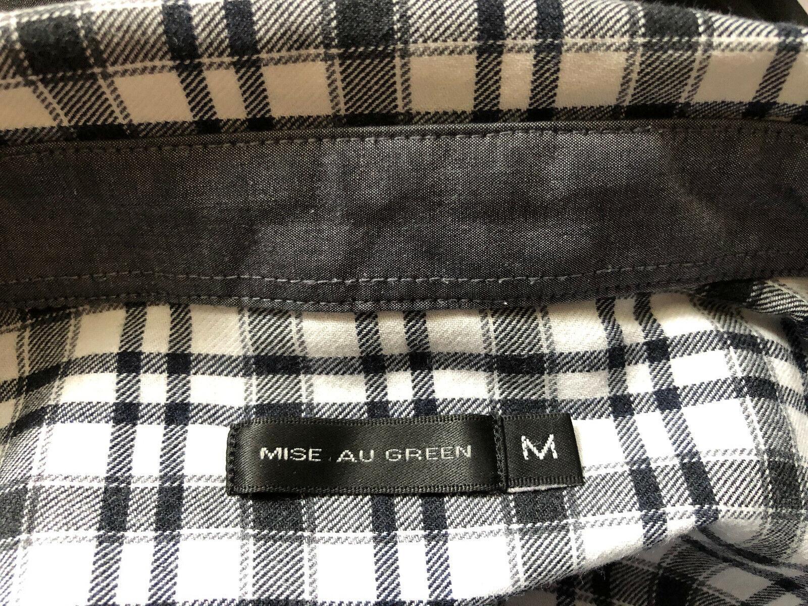 Chemise coton blanc carreaux noir manches longues mise au green m 38/40