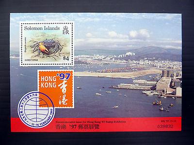 SOLOMON ISLANDS Wholesale 1997 $4 Crab M/Sheet x 50 NEW LOWER PRICE FP1082