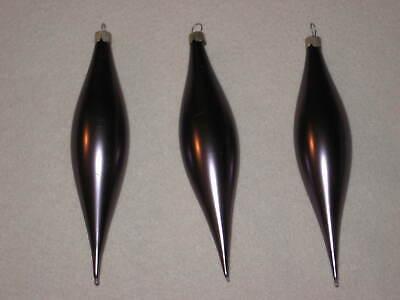 Martha Stewart Christmas Ornaments Glass Flute Purple Satin Lot of 3