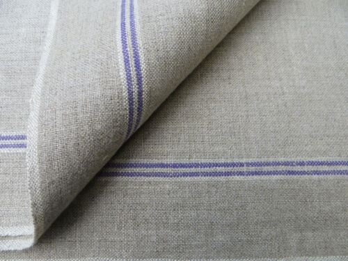 Manglecloth Mangle Cloth German Linen Fabric Lavender Stripes Unused  3.27 Yards