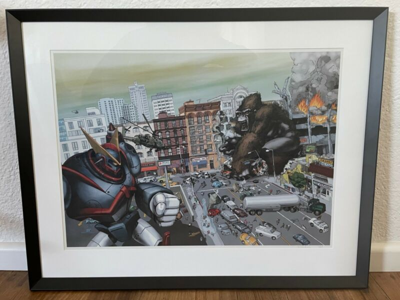 Kozyndan 'War of the Monsters' 2013 release signed print