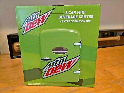 Mountain Dew 6 Can Mini Refrigerator Fridge Beverage Center Car Adapter NEW!