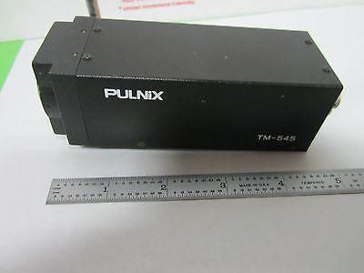 Microscope Inspection Video Camera Ccd Pulnix Tm-545 Optics As Is Binn5-07