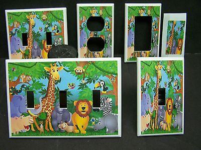 BABY ZOO JUNGLE SAFARI ANIMALS  IMAGE #1  LIGHT SWITCH COVERS PLATE AND OUTLETS  1 Light Switch Covers