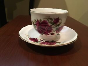 Colclough Red Rose Gift Cup and Saucer Duo