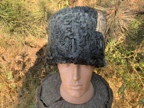 Karakul  Papakha Russian Imperial Army soldier model 1910 . Gray