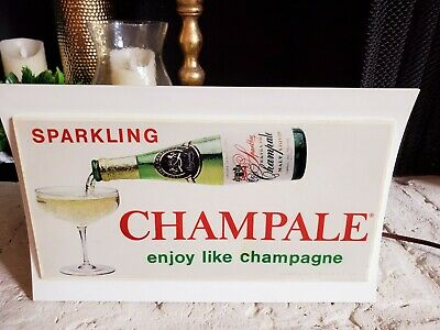 Rare!!! Vintage Multi-Colored Light Up Display Sign ~ Sparking Champale