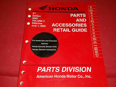 Honda 2005 Parts and Accessories Retail Guide 00X05-HMC-A02