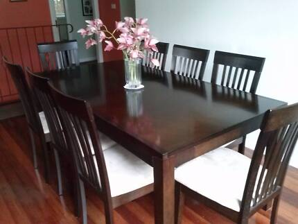DINING TABLE AND 8 CHAIRS Toronto Lake Macquarie Area Preview
