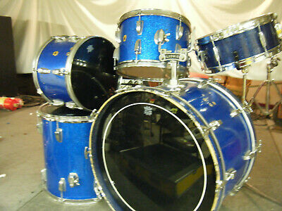 Ludwig Vintage Blue Sparkle Drum set, extremely collectible, electronic drums