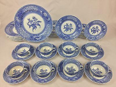 Copeland Spode Camilla Blue & White Floral 40-Piece Set for EIGHT