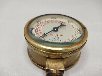 Us Gauge Company Ny. Vintage Brass Pressure Gauge Patd July 311917 -
