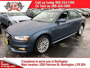 2015 Audi A4 S-LINE, Komfort +, Leather, Sunroof, AWD