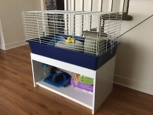 Small animal cage and stand