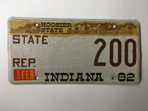 1982 Indiana Legislature License Plate House of Representatives Political
