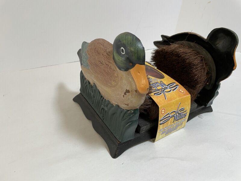 Sole Mate Bristle Brush Shoe and Boot Scraper Cleaner Metal Mallard Duck