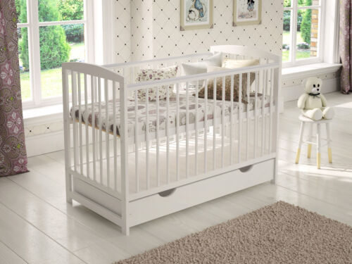 Wooden Baby Cot Bed 3x1 Converts to Junior Bed ✔ 120x60