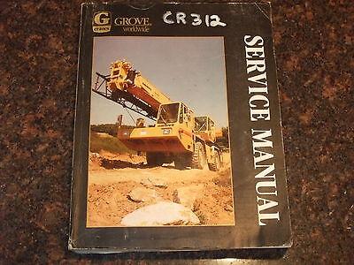 Grove Rt600c Rough Terrain Crane Service Repair Manual