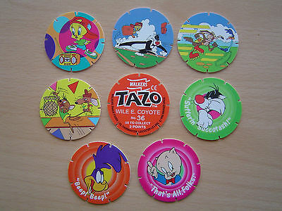 8 Walkers Tazos - Looney Tunes