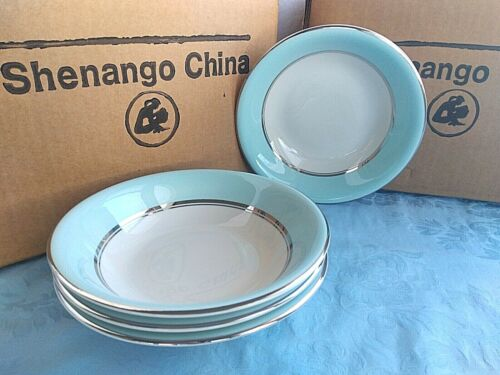 """American Manor CELESTIAL Shenango China China  FOUR  6.5"""" CEREAL BOWLS Interpace"""