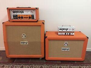 Orange Hand wired, British made Custom Shop Tube  heads & speaker cabs Everton Hills Brisbane North West Preview